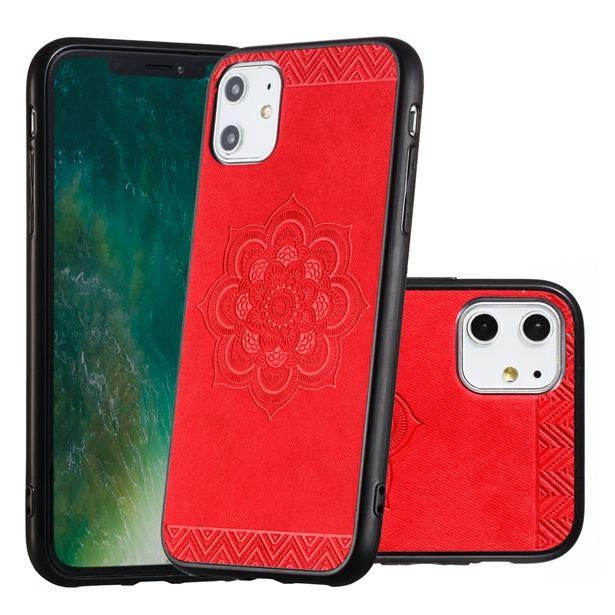 Çiçek Sert TPU Kılıf için Iphone 11 PRO MAX X XS XR 8 7 PLUS Huawei P30 LITE P30 PRO Mandala Bezi Telefon Kaplama Yapıştırma Cilt Shell Kapak 15pcs