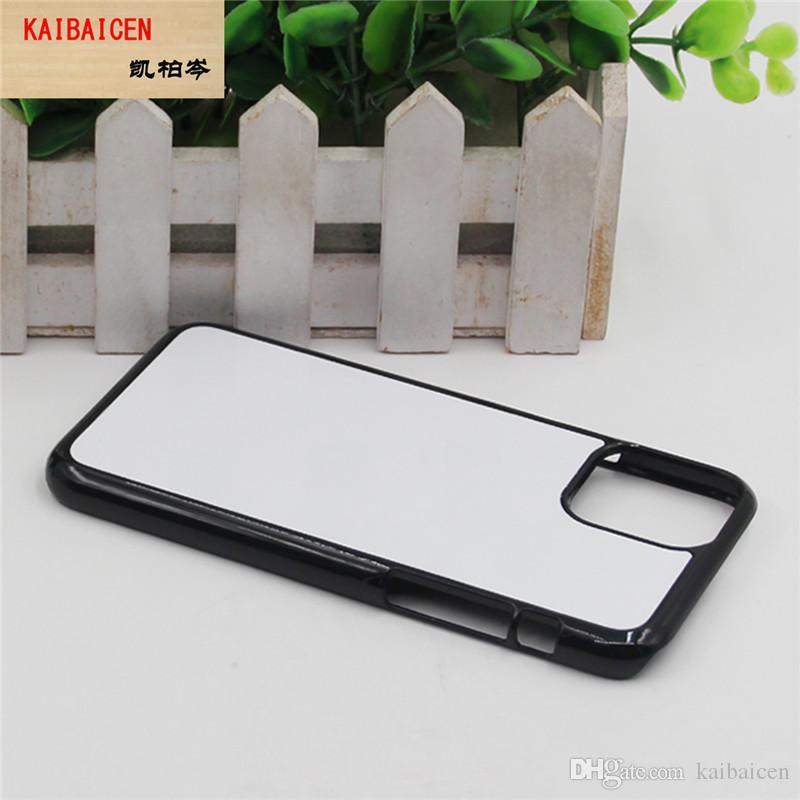 آيفون 11 برو xr xs ماكس 8 زائد 7 6 6 ثانية 5c 4 diy 2d التسامي فارغة البلاستيك الصلب الهاتف المحمول غطاء الهاتف مع gule و الألومنيوم لوحة