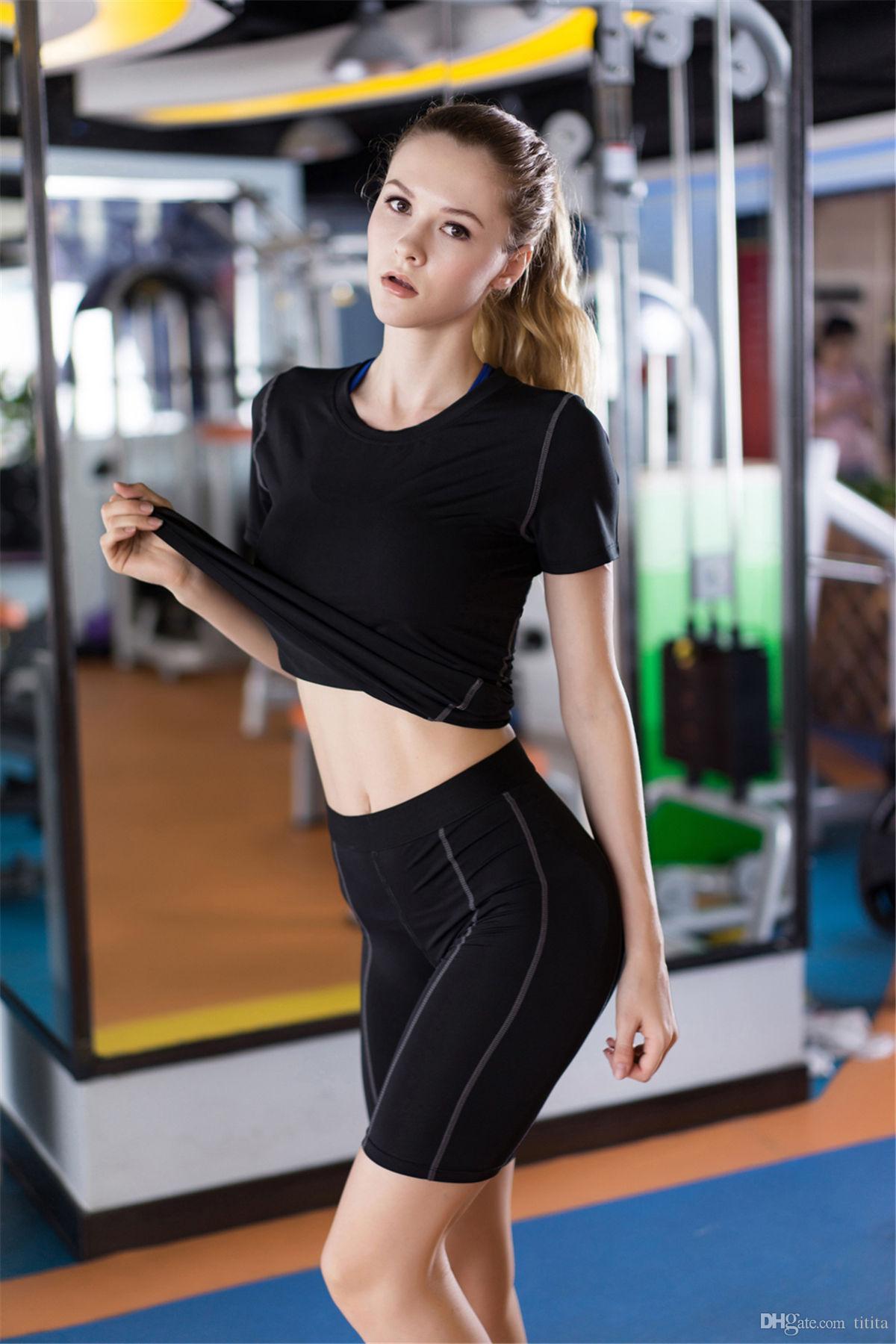 Senhoras Esporte leggings usam calças curtas de verão Mulheres Yoga, correndo, calças de treinamento de fitness Calças Calças Ginásio roupas confortáveis
