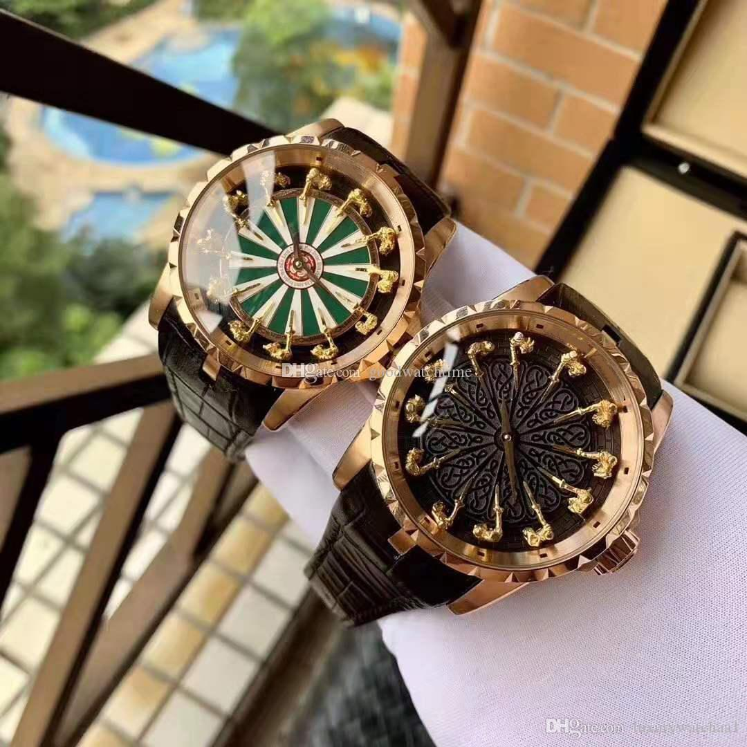 Hot High quality Luxury watch King series EXCALIBUR RDDB0511 Twelve gold people stainless steel watches mechanical Automatic Mens wristwatch