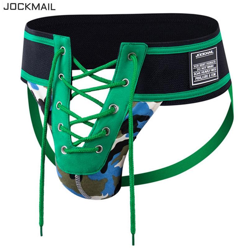 JOCKMAILl string sexy vert camouflage dentelle sous-vêtements pour hommes ultra large ceinture repèrer gay cueca Ropa erotica hombre hommes gros Jockstrap