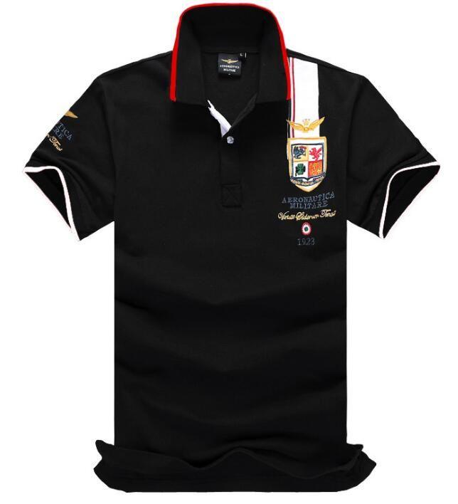 Nova Primavera de Luxo Itália Tee T-Shirt Designer Camisas Polos Homens Camisas de manga curta Básico dos homens de Algodão Polos Para Meninos Marca Designer Camisa Polo