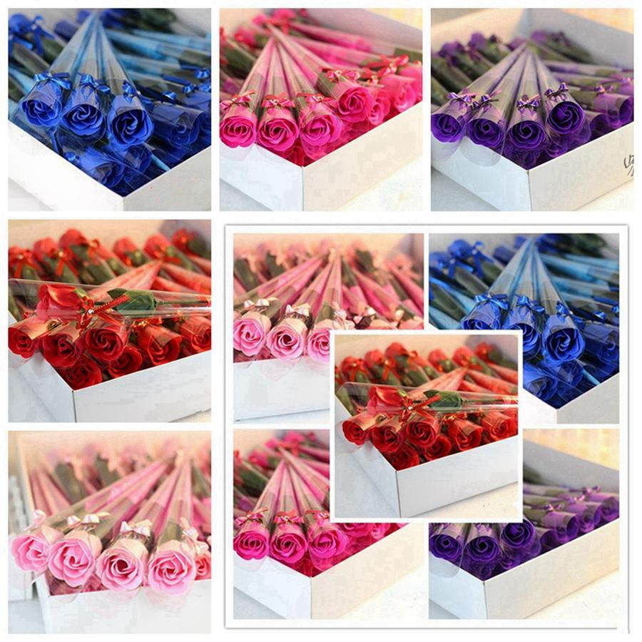 Duftbadeseife Rose Soap Blütenblatt für Hochzeit Valentinstag Muttertag Tag der Lehrer Geschenke RRA2612