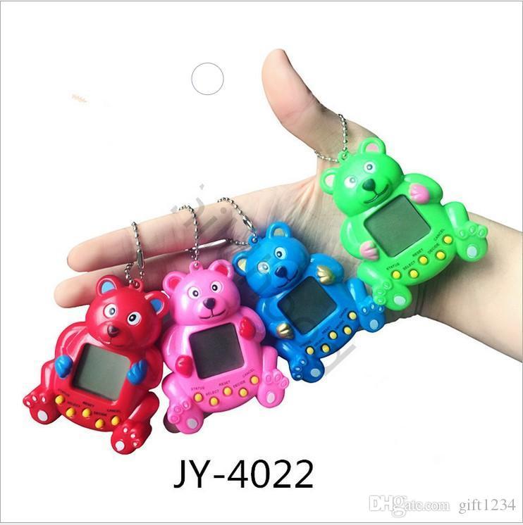 lowprice chrismas gift cute bear Tamagochi Virtual Cyber Digital Pets Electronic Digital E-pet Retro Funny Toy Handheld Game Pet Machine Toy