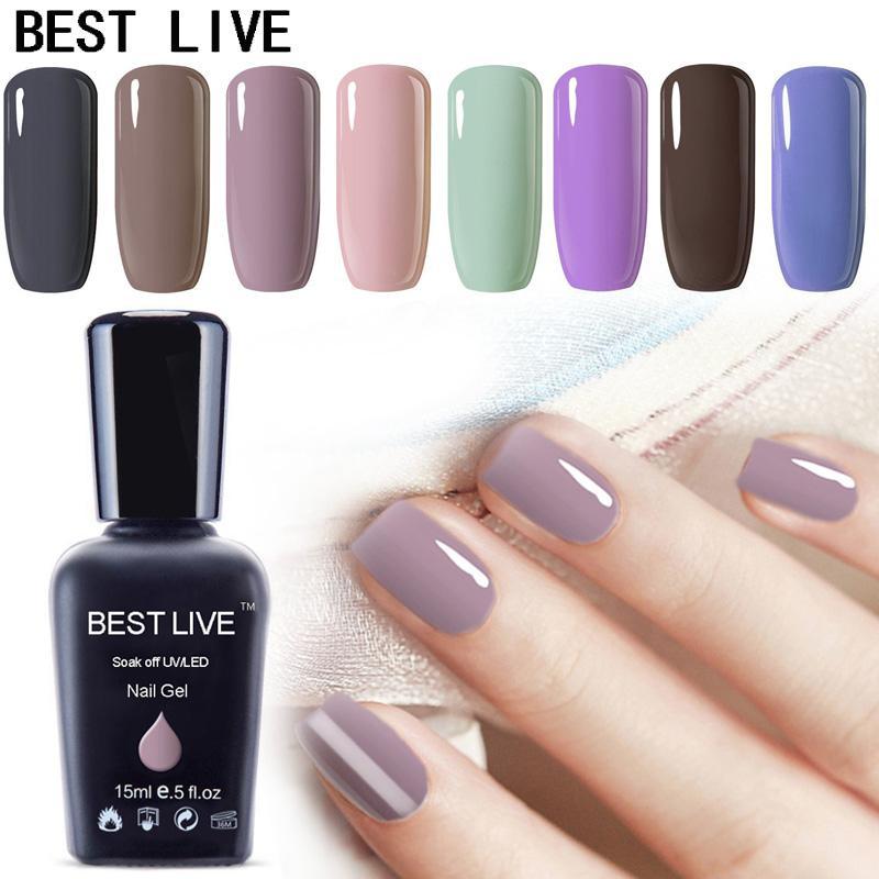 MEILLEURS EN DIRECT 15ml Couleurs populaires Gel UV Vernis à ongles Imprégnez-off UV Nail Gel Polish UVLED LED Art brillant