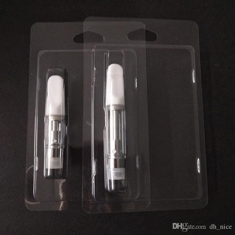 Kunststoff-Blister Vape Verpackung Einzelhandel Cartridges Verpackung für 0,5 ml 1 ml Vape Pen-Patronen Vapor Verpackung 510 Carts Verpackung
