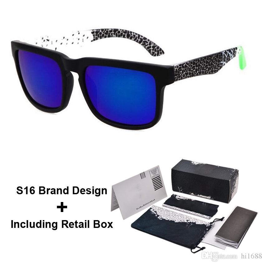 Brand Designer Spied KEN BLOCK Sunglasses Helm 18 Colors Fashion Men Square Frame Brazil Hot Rays Male Driving Sun Glasses Shades Eyewear