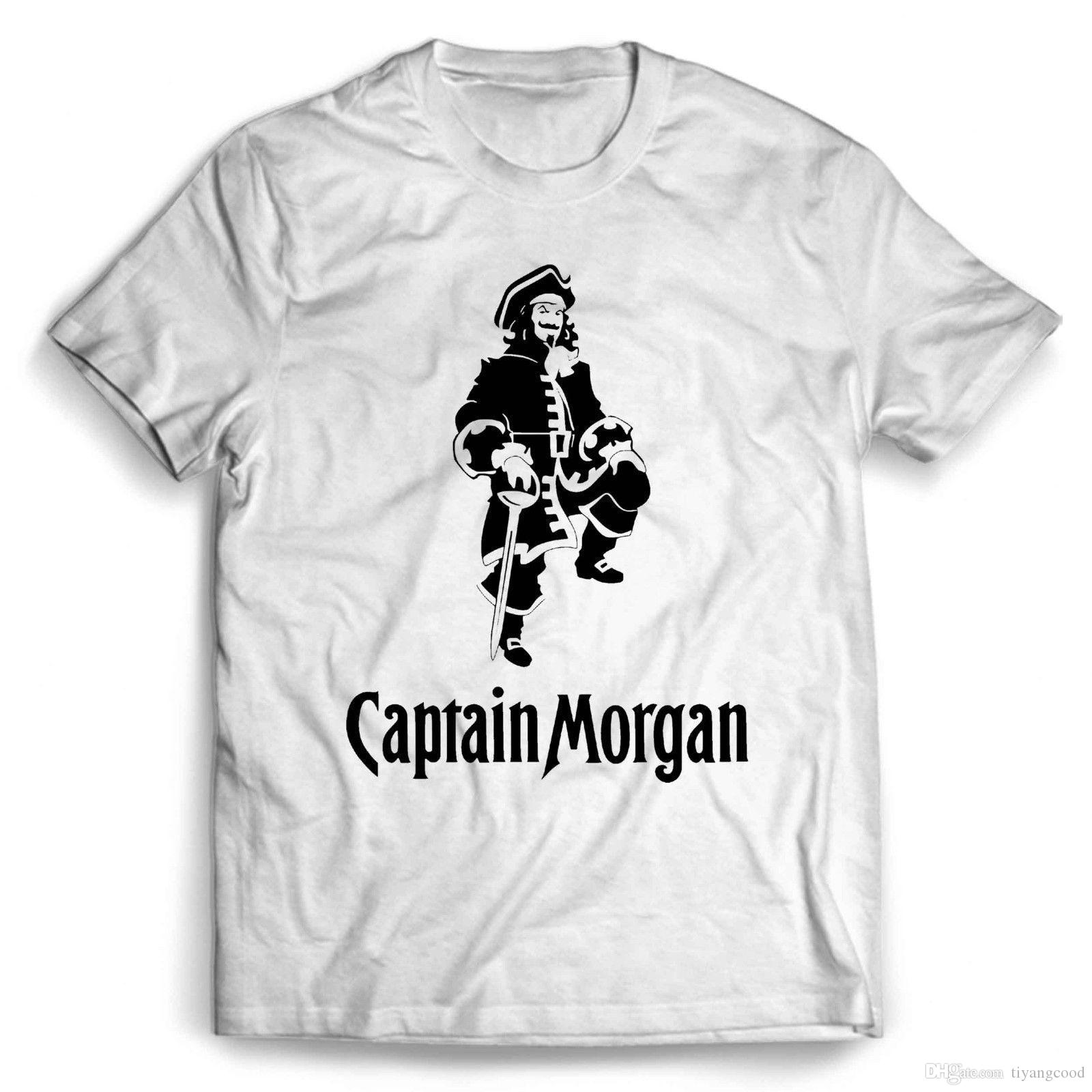 shirt new captain morgan white rum  ~ ~ SIZE XL  T SHIRT Captain morgan rum T