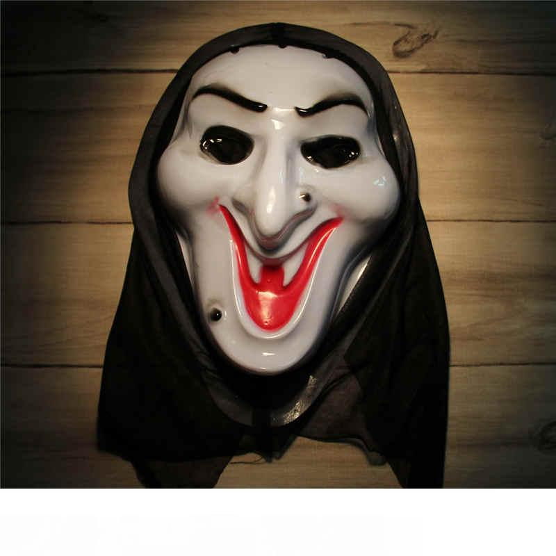 Horror Mask Screaming Witch Full Face White Volto Cosplay Venetian Mardi Gras Masks For Halloween Masquerade Balls Costume Party Supplies