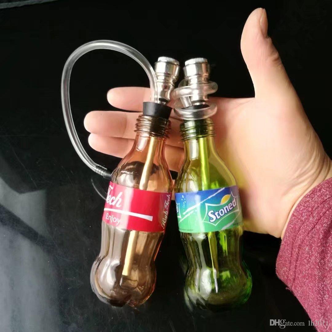 La nueva Coca-Cola Sprite de cristal cachimba, mayorista bongs de vidrio, tubos de quemador de aceite de cristal de agua, accesorios de tubería de humo