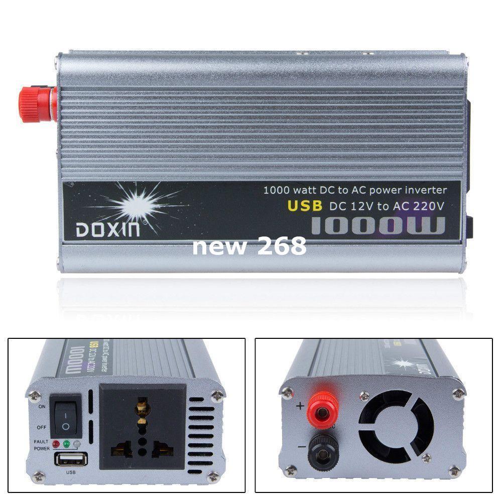 Freeshipping home power inverter 1000w 12v 220v