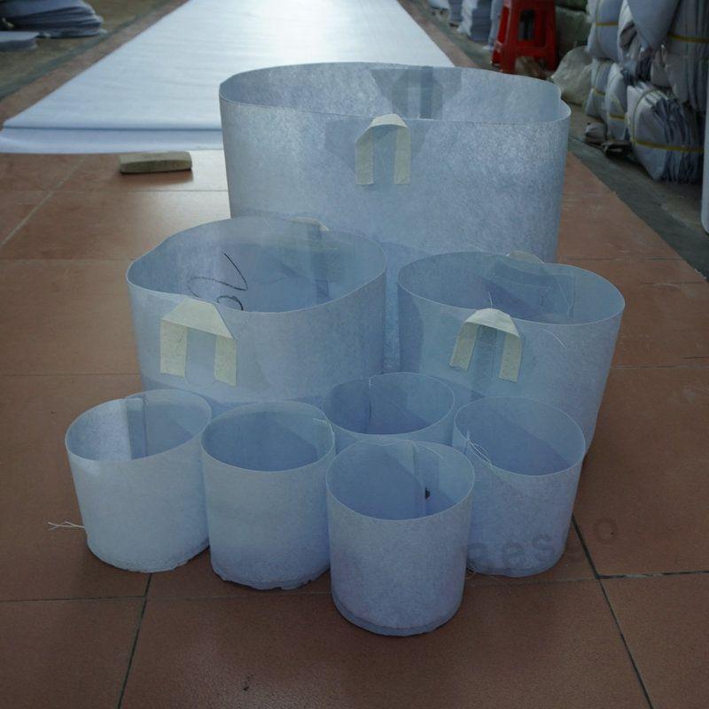 11 الحجم مصنع غير المنسوجة أكياس قابلة لإعادة الاستخدام لينة الأواني تنمو تنفس عالية زراعة حقيبة مع مقابض رخيصة الثمن كبير زهرة الغراس DBC BH2865