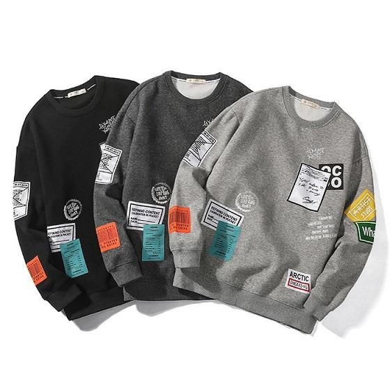 Men Designer Sweaters Mens 2019 New Arrival Hip-hop Tide Brand Round Neck Pullover Fashion Clothing Mens Luxury Loose Sewaters