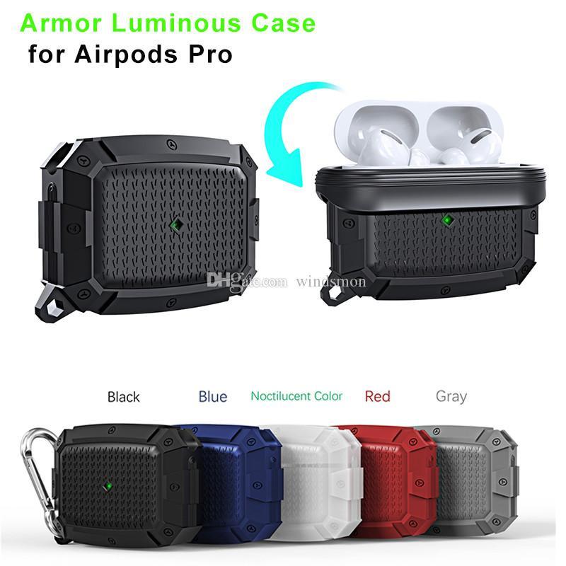 Etui en silicone pour AirPod Pro silicone protecteur cas anti-perte de cas avec crochet pour Oreillettes AirPod 3 écouteurs Protecteur