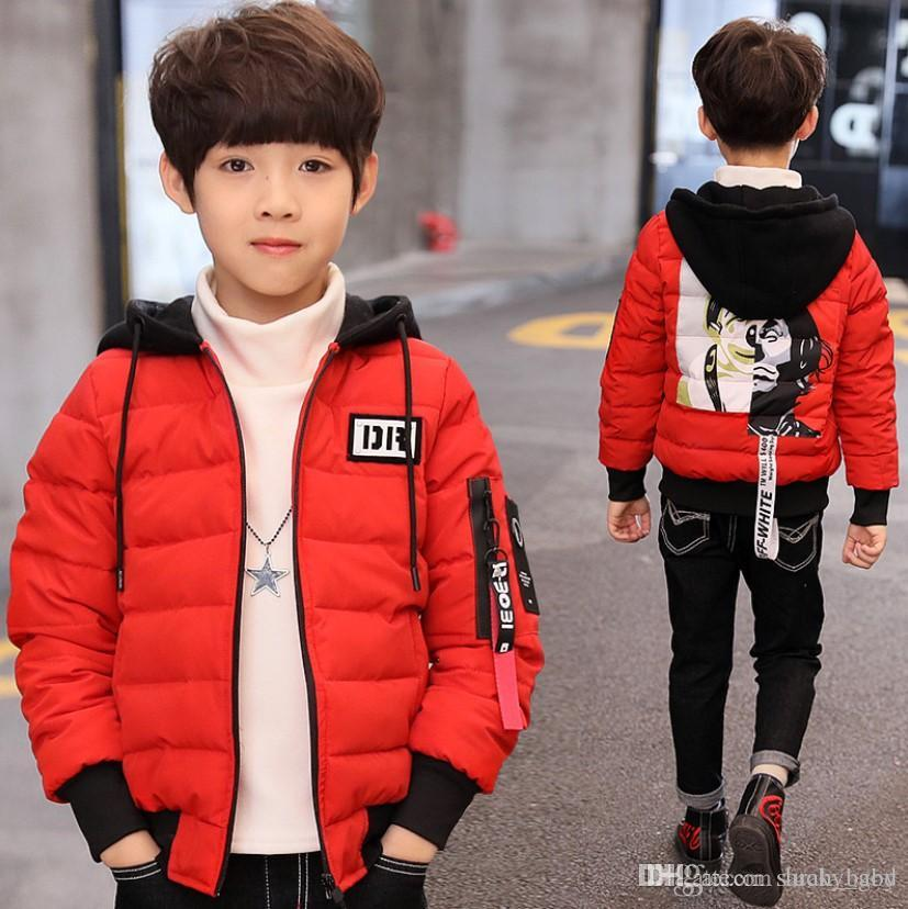Çocuk bezi çocuk kış çocuk kalınlaşma of yeni Kore versiyonu yüz ceket pamuk büyük boy kış ceket Bebek Çocuk Giyim