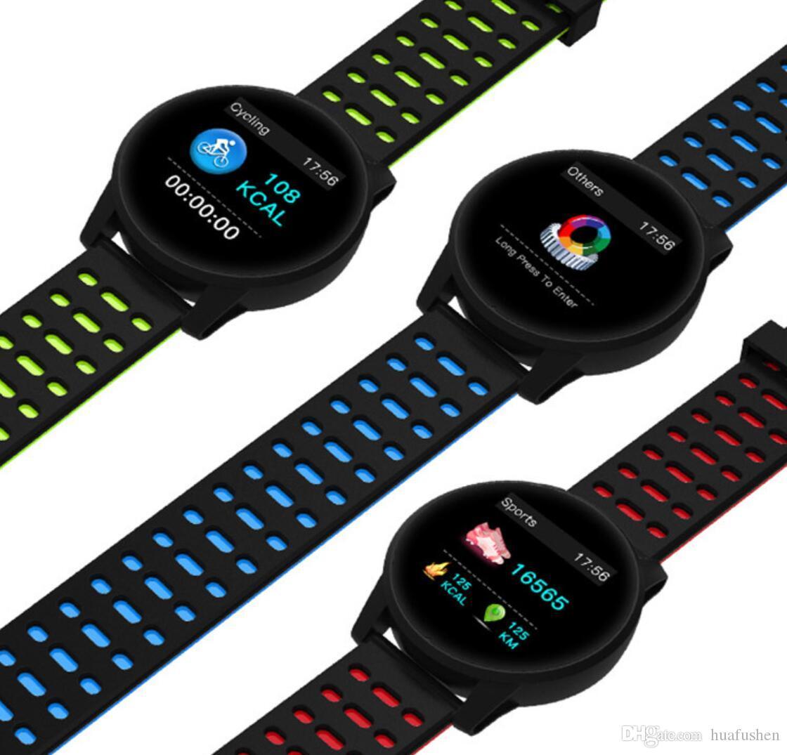 Smart Armband Fitness 1,3 Zoll TFT-Farbdisplay Sport Armband Herzfrequenz-Blutdrucküberwachung Smart Fitness Track Watch Sport Herz