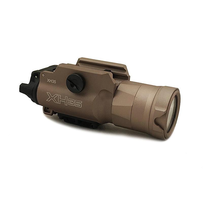 Tactical XH35 Gun Light Ultra-High Dual Output LED White Light XH-35 Hunting Flashlight Brightness Adjustment & Strobe