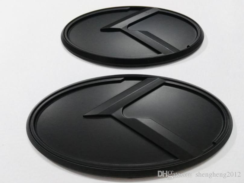 autoadesivo / 3D trasporto 2pcs nuovo 3D nero K logo emblema distintivo fit ideale di Kia K5 emblemi 2011-2018 / auto