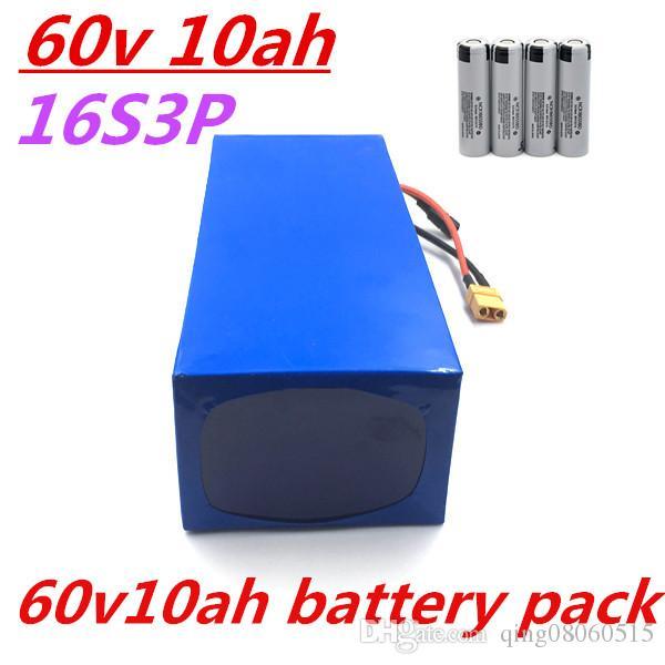 60V Batterie 60V 10AH elektrische Fahrradbatterie 60V 10AH Lithiumbatterie 30A BMS + 67.2V 2A Ladegerät für 750W 1000W 1500W Motor