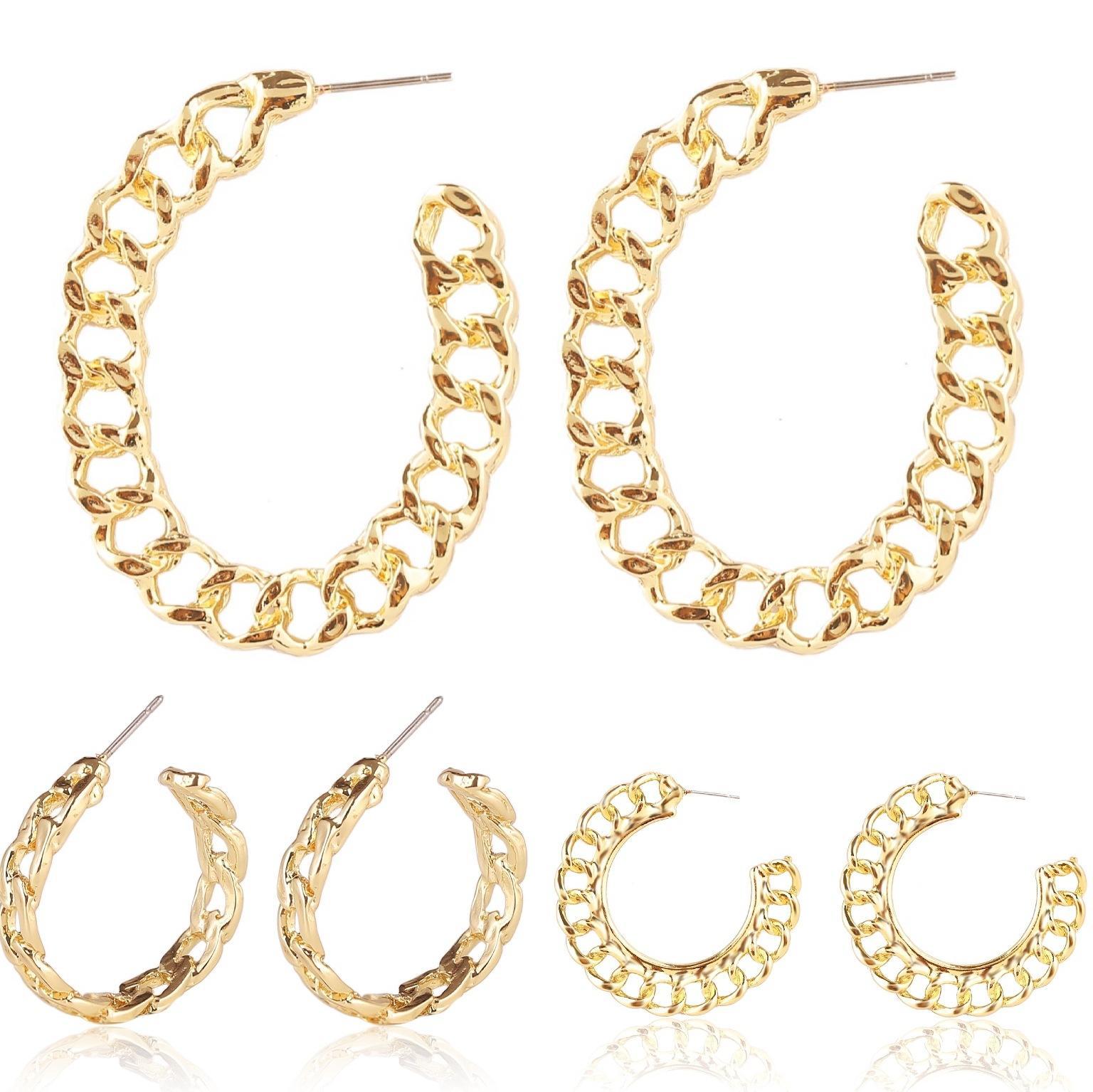 2020 Women Gold Hoop Earrings Chain Hypoallergenic Designer Ear Rings Fashion Jewelry Girls Hollow Out Earrings Hot Sale From Etsybuy 1 12 Dhgate Com