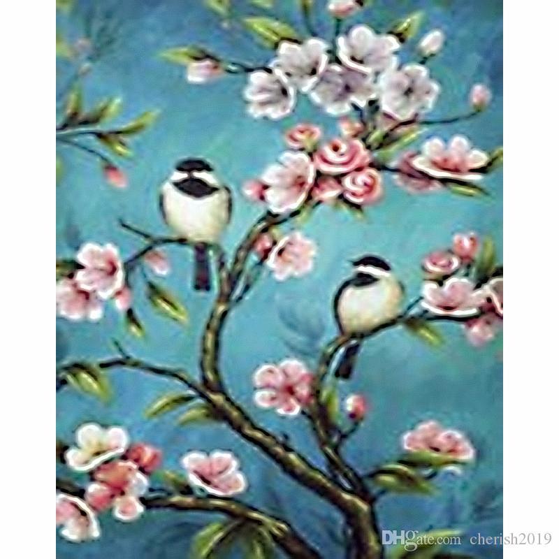 Full Drill DIY 5D Bird Flowers Diamond Painting Kits Art Embroidery Decor Gifts