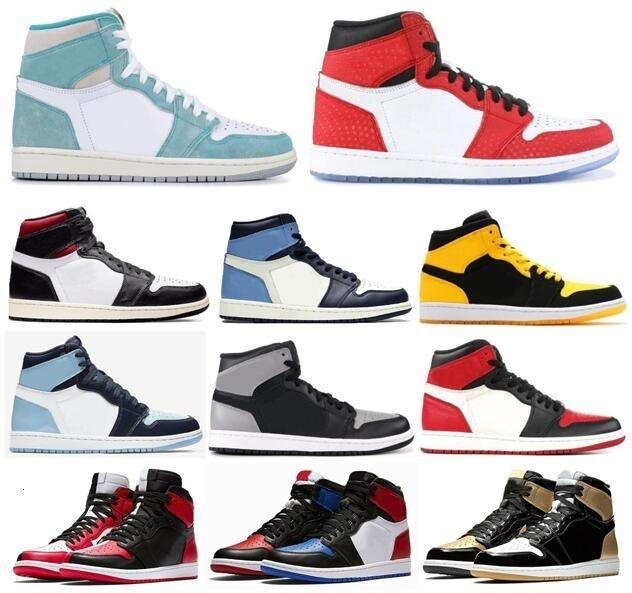 High OG 1 Turbo Green Spider-Man Gym Red Homage To Home Basketball Shoes Men 1s Obsidian New Love Sports Sneakers With Box