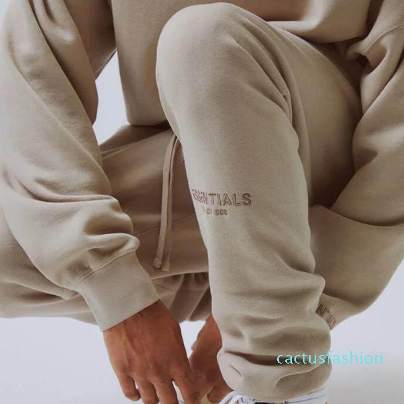 20 SS SİS Korku God Of Letter Nakış High Street Sweatpants 3M Yansıtıcı Vintage Renkli Moda Spor Açık Spor