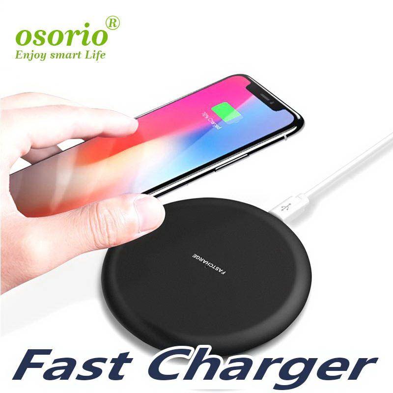 Pour Iphone 11 8 X 9V 1.67A 5V 2A Chargeur rapide sans fil rapide Qi Chargeur de charge Pad pour Samsung Galaxy S7 S8 bord plus Note 8 10 par câble