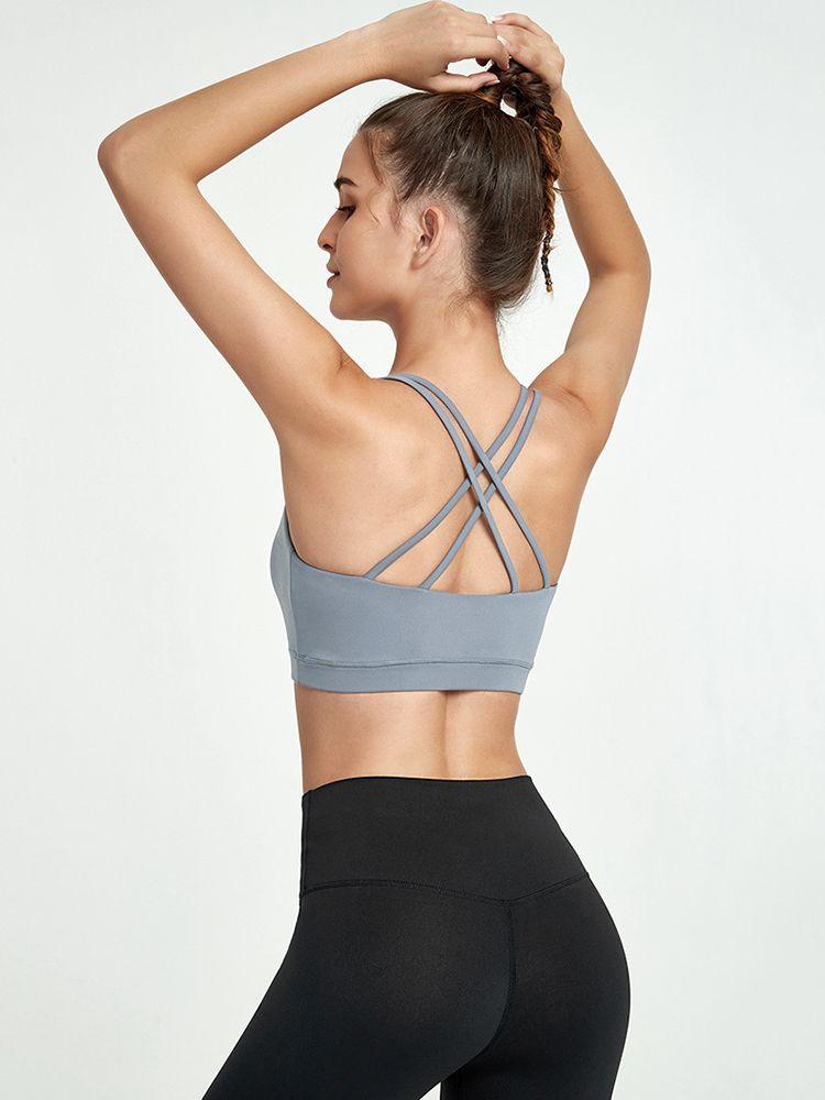 2020 Nova Sports Tanque Mulheres ginásio Quick Dry Bra Sports executando Jogger Vest Sexy ostenta acolchoado Tops Camisole
