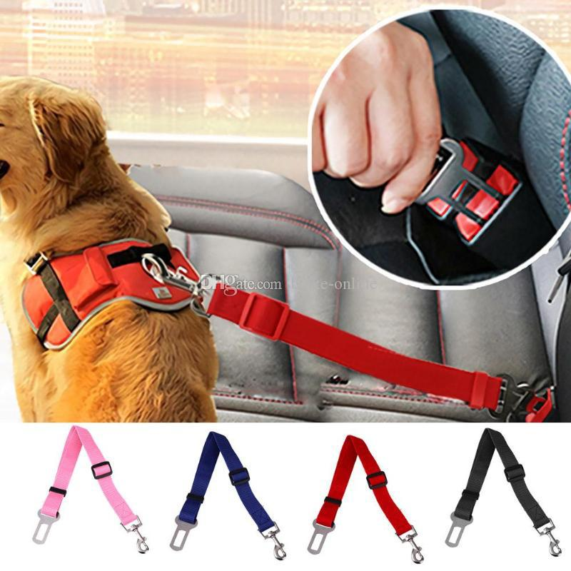 Dog Seat Belt lead restraint harness Black