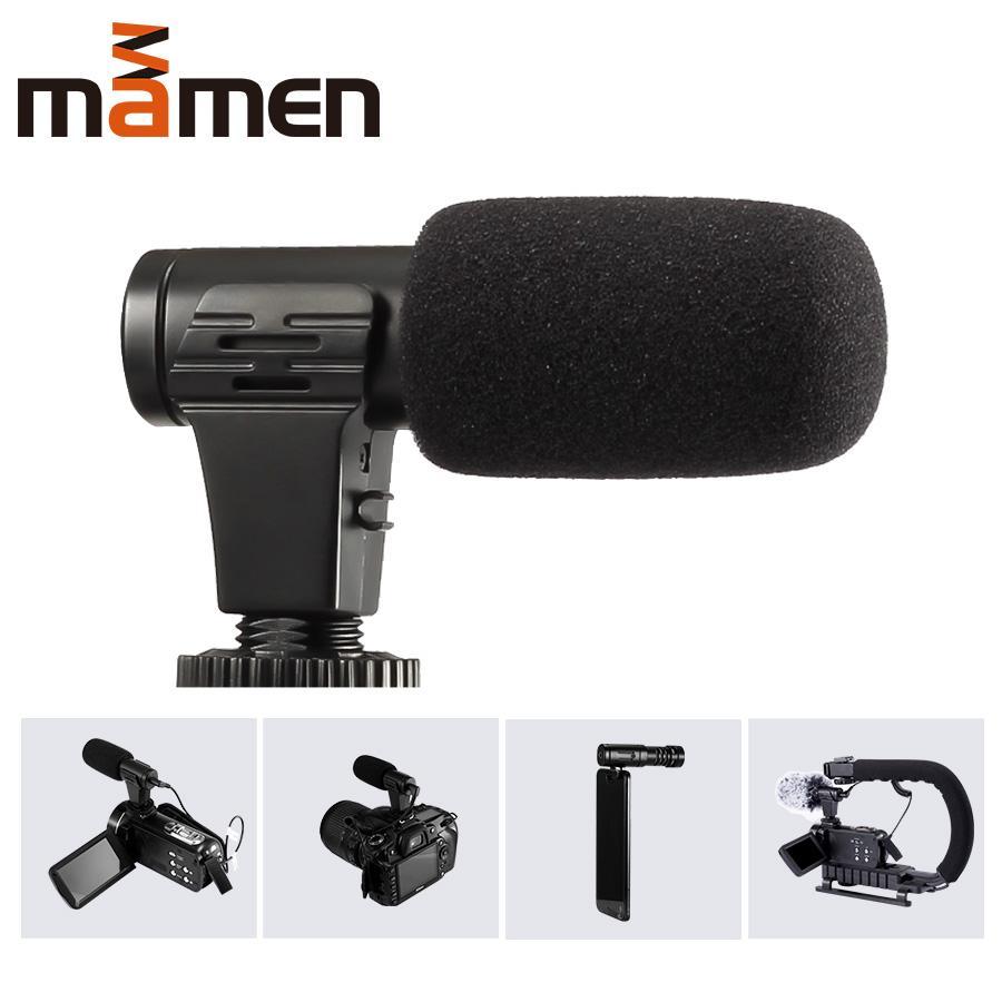 Heißer Verkauf Mini-Mikrofon Tragbares 3,5 mm Kondensator für SLR DSLR Smart Video Vlog Kamera iphone Außen Interview-Mikrofon mit Muff