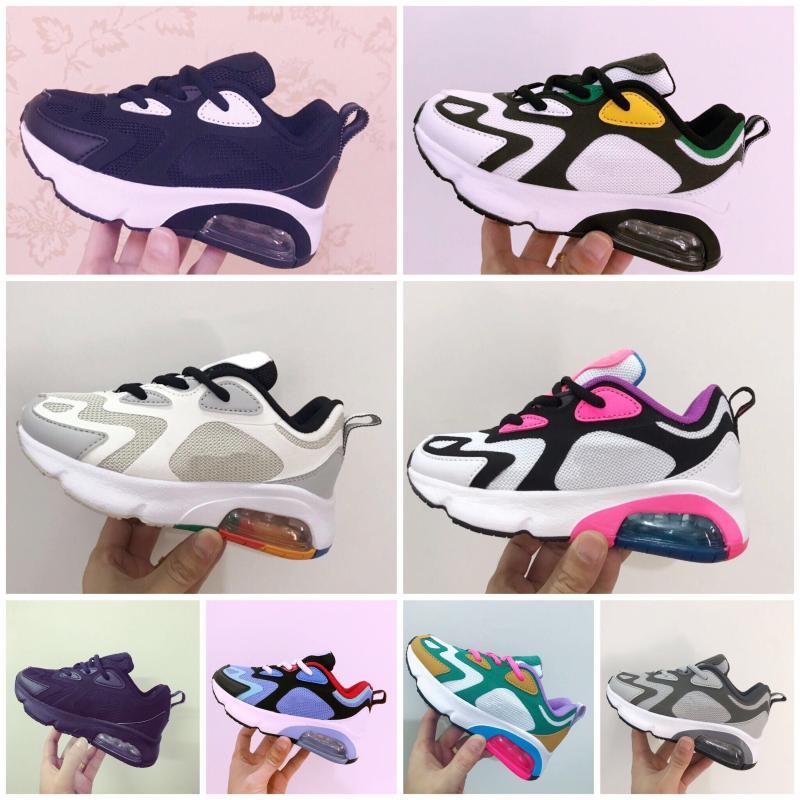 Nike Air Max 200 Scarpe bambini Og triple scarpe bianche da corsa della ragazza dei ragazzi rosa ragazze dei ragazzi bambini allenatore sportivo scarpe per bambini scarpa da tennis