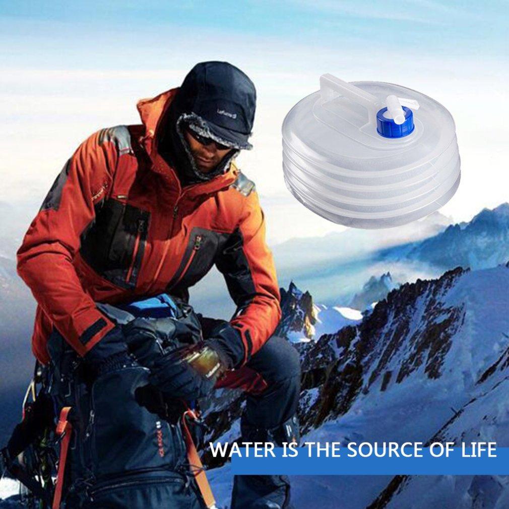 3L 5L 8L 10L 15L im Freien zusammenklappbaren faltbare Wassertaschen Container Camping Wandern Tragbarer Überleben Wasserspeicher Tragetasche