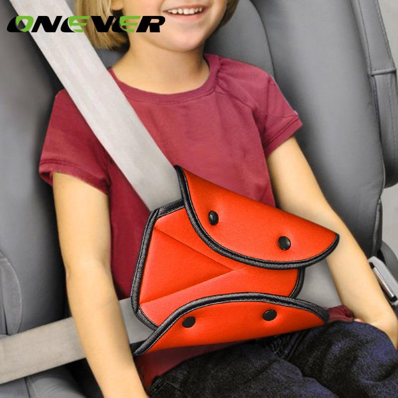 Onever سيارة صالح الآمن حزام الأمان قوي الضابط السيارة حزام الأمان ضبط جهاز الطفل المثلث حماية الطفل الطفل حامي السلامة