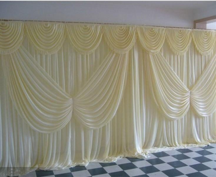 زاوية أجنحة غنيمة 3 * 6M الترتر الستائر مرحلة الحرير خلفية زفاف ستارة الديكور زفاف رومانسي الجليد