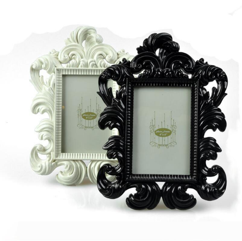 Promotion Wedding favor 100pcs lot Baroque photo frame place card holder in white box Free shipping LX6062
