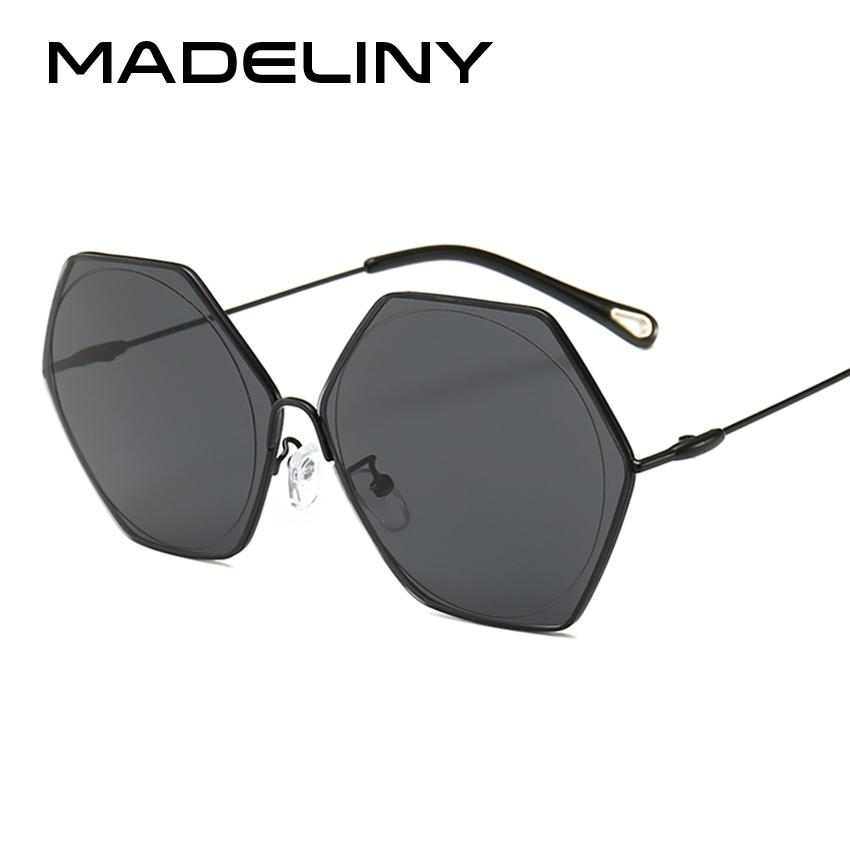 wholesale New Women Square Sunglasses Fashion Geometry Hexagon Luxury Oversized Retro Sun Glasses High Quality Shades MA022