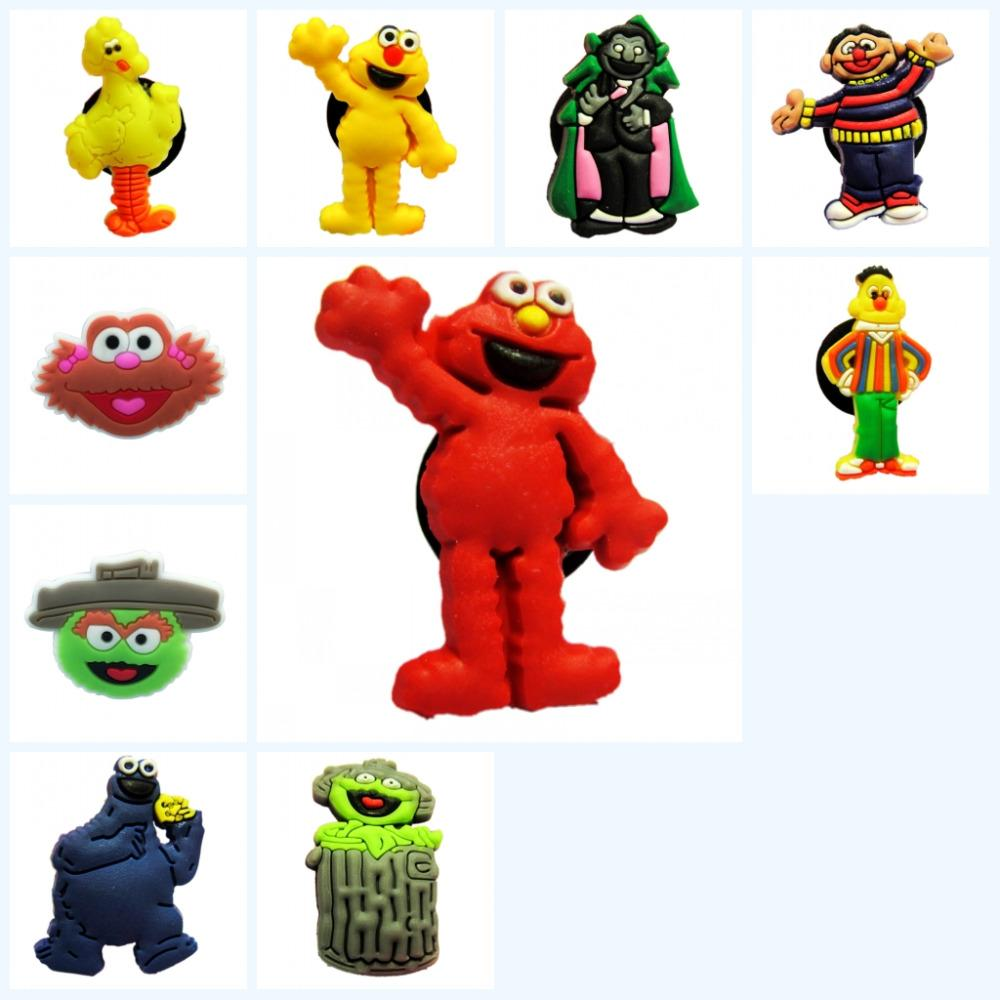 Free Shipping Sesame Street  shoe charm set of 6 USA Seller New Without Tags