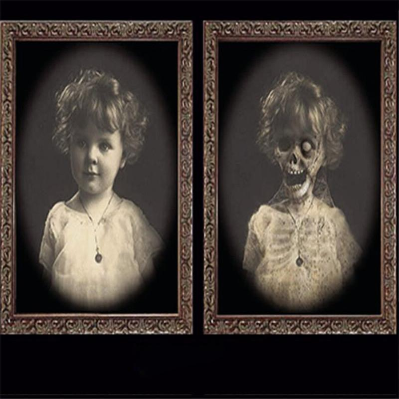 3D Призрак Picture Frame Хэллоуин украшения Horror товары для рукоделия Bachelorette Party Decor Halloween Theme Party Реквизит