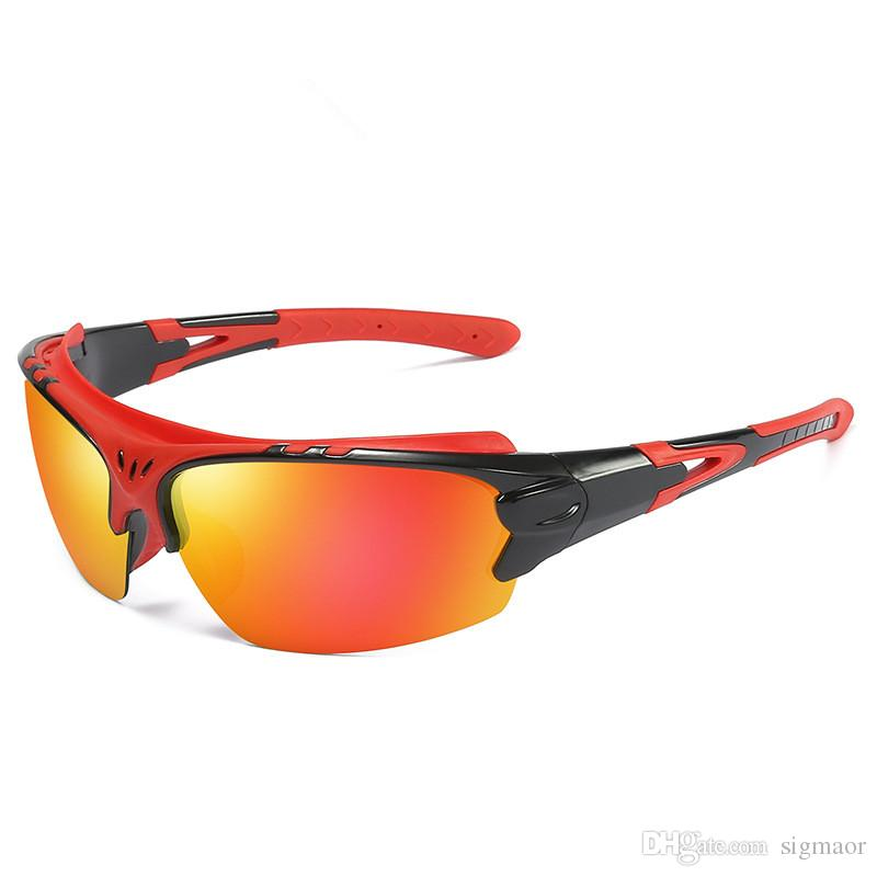Polarizada Óculos De Sol Esportes UV Protectio Motocicleta Ciclismo Bicicleta Basebol Condução Corrida De Pesca De Corrida De Esqui