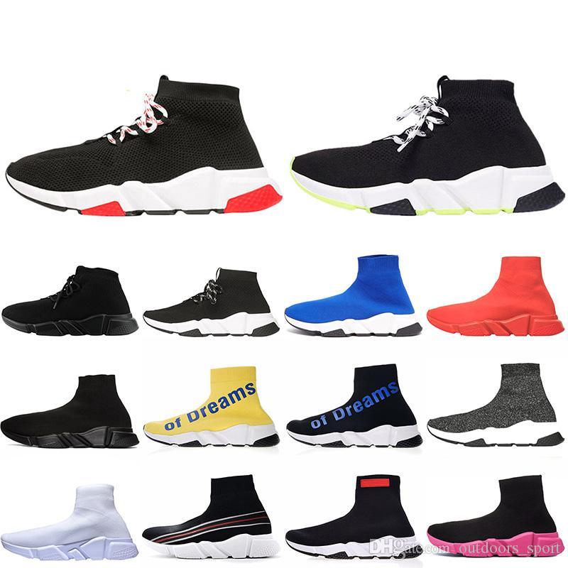 uomini scarpe balenciaga Scarpe con lacci Speed Trainer Scarpe casual Nero Rosso Triplo Bianco Blu Rosa Giallo Di sogni Scarpe da ginnastica Scarpe da ginnastica
