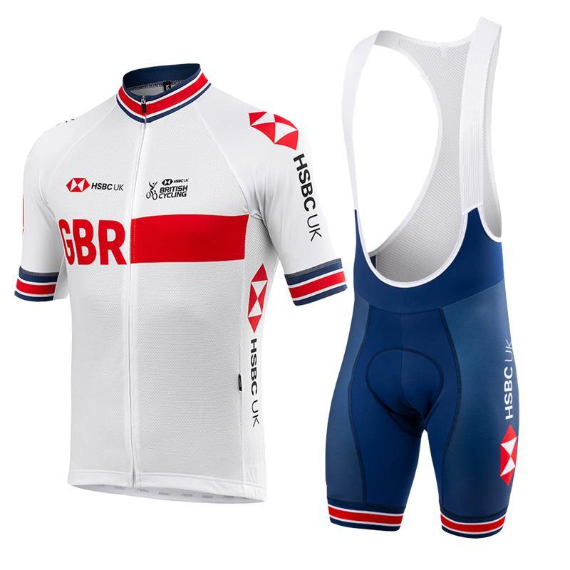 2020 Pro TEAM GB Cycling Jersey set Men / women Summer breaking clothing MTB jersey bib shorts kit Ropa Ciclismo