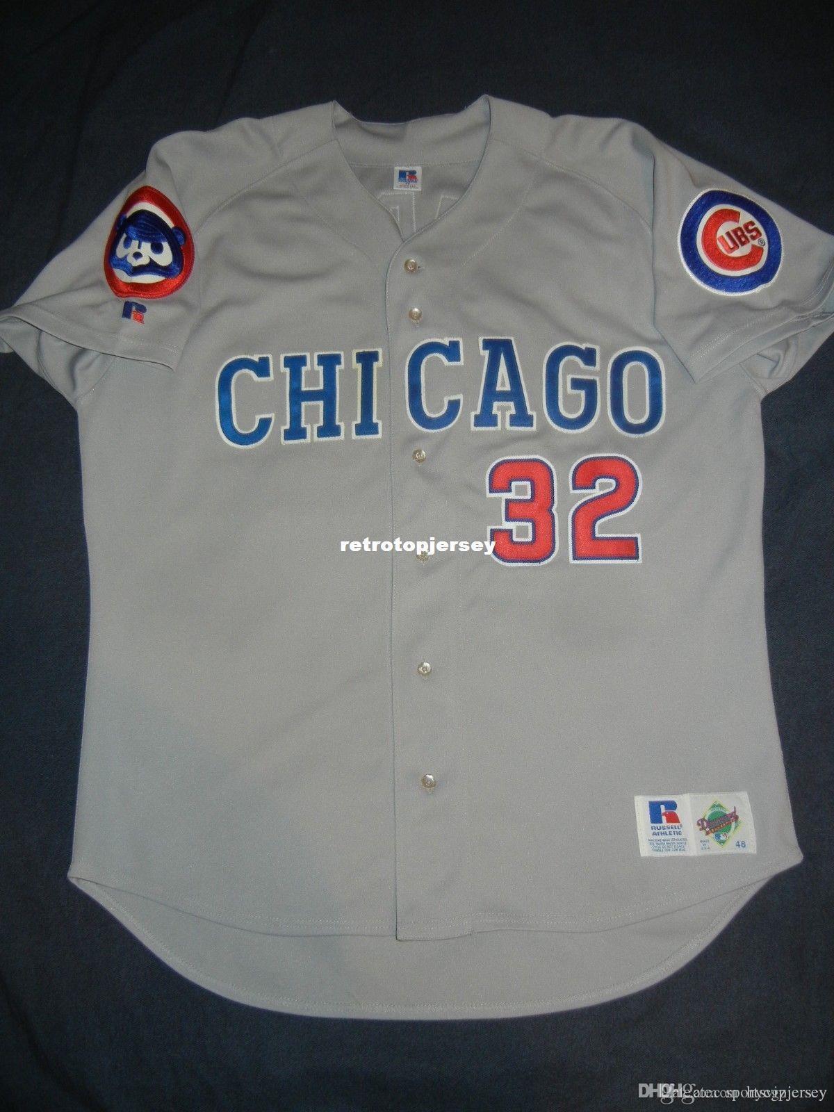 Дешевые ретро #32 чет Стедман Рассел Чикаго Джерси Новичок года Rowengartner мужские сшитые бейсбольные майки