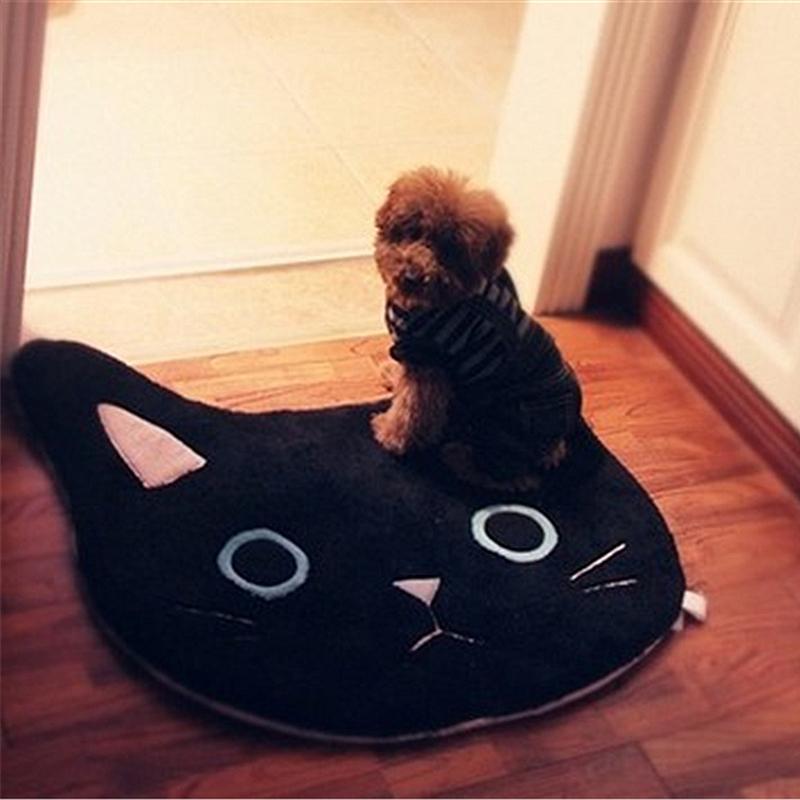 애완 동물 Y200407 욕실, 목욕 매트 U 모양의 화장실 러그 블랙 화이트 고양이 목욕 매트 주방 러그 68x68cm 바닥 카펫 앞에서 바보 소프트 바닥 패드
