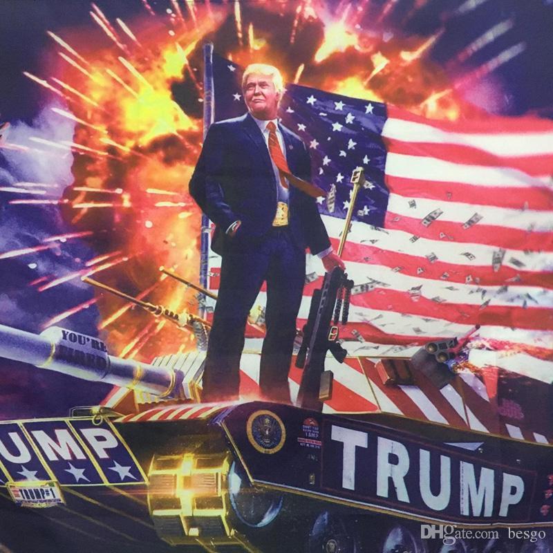 Hanging 90 * 150cm numérique Imprimer Donald Trump sur l'impression du réservoir Drapeau Trump Hanging 3x5ft grand drapeau de décoration intérieure Trump réservoir bannières DH1033 T03