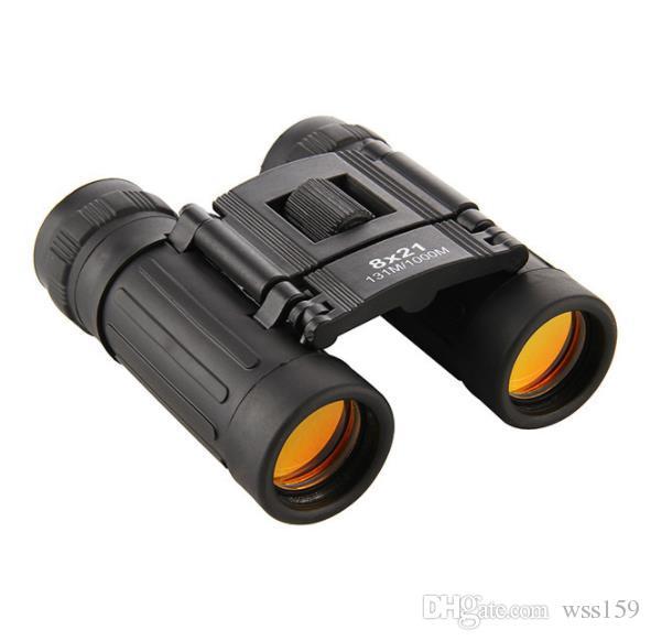 Jumelles Compact Zoom 8x21 Longue Portée 1000m Pliant HD Puissant Mini Télescope BAK4 FMC Optique Chasse Sports Camping