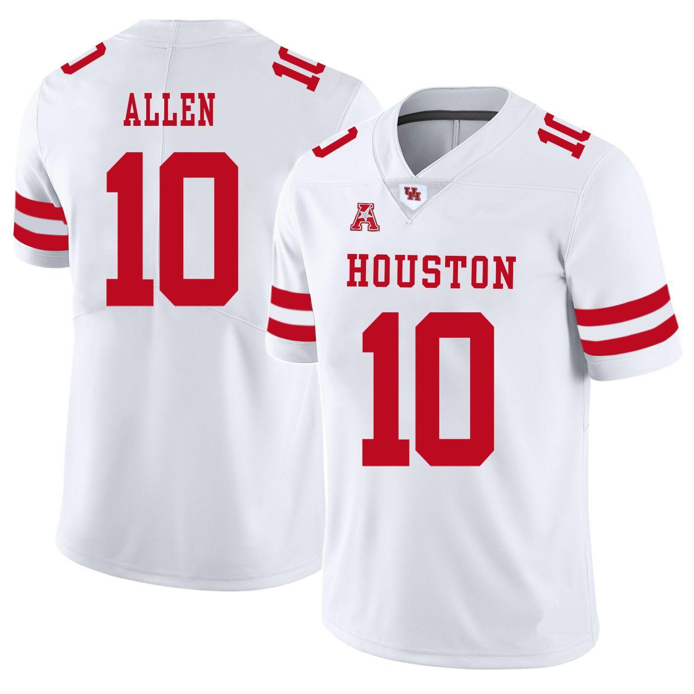 Kyle Allen Stitched Men's Houston Cougars Steven Dunbar Matthew Adams White Red Grey College Football Jersey