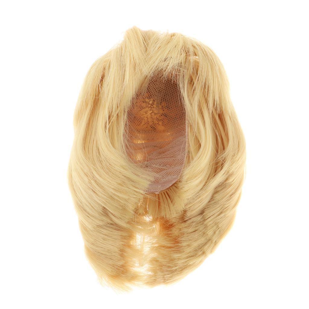Suministros 1/3 con fleco muñeca BJD Muñecas peluca de pelo corto de bricolaje