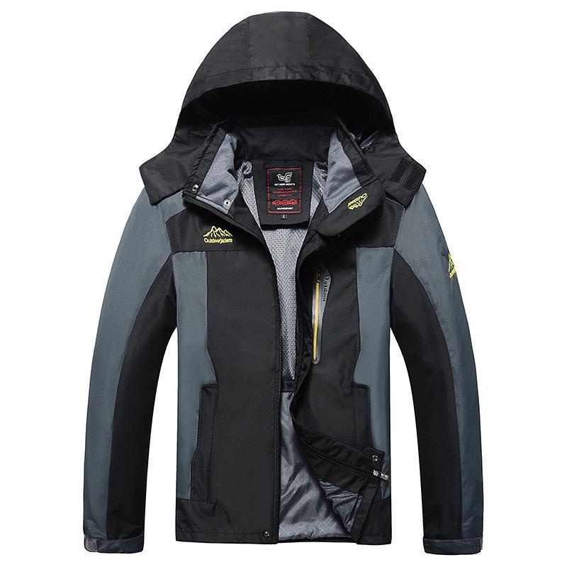 Automne et Hiver Nouveau Style Plus taille Veste Sports de plein air Raincoat Veste Homme Escalade