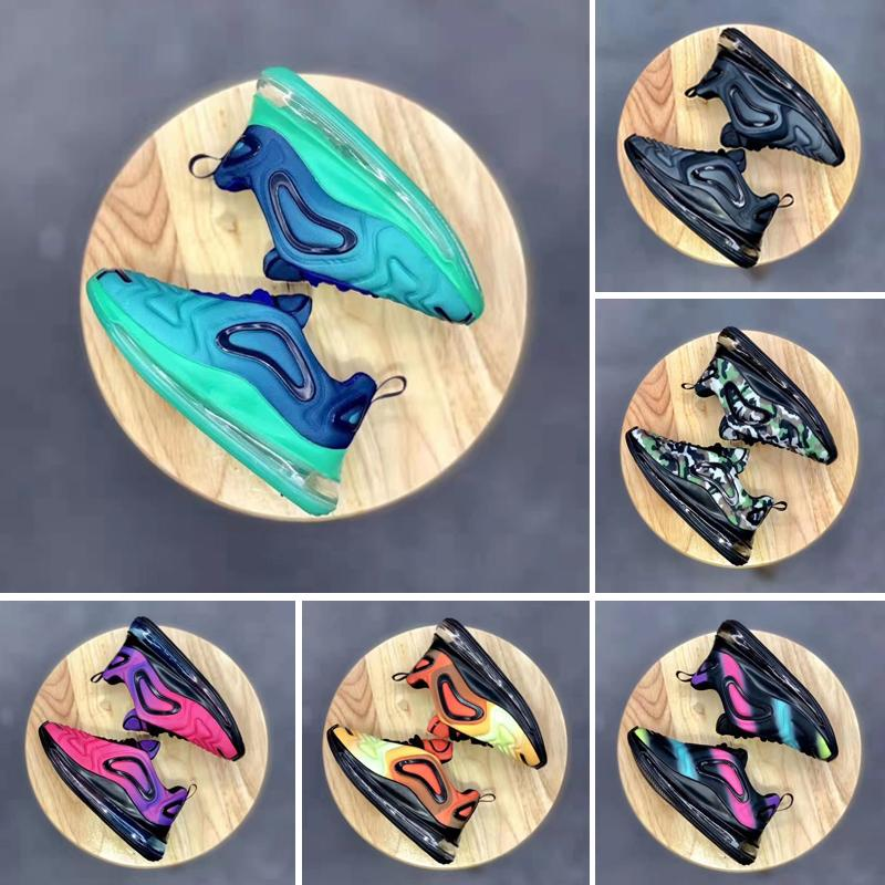 Nike Air Max 720 2019 Chaussures Air Kids 72O Zapatillas para correr Niños bebés niñas fuera Negro Blanco Rojo Azul Zapatillas deportivas más TN Maxes Designer Shoes
